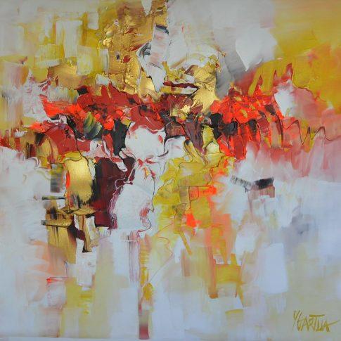 GOLDEN PARADISE 120 x 120 cm