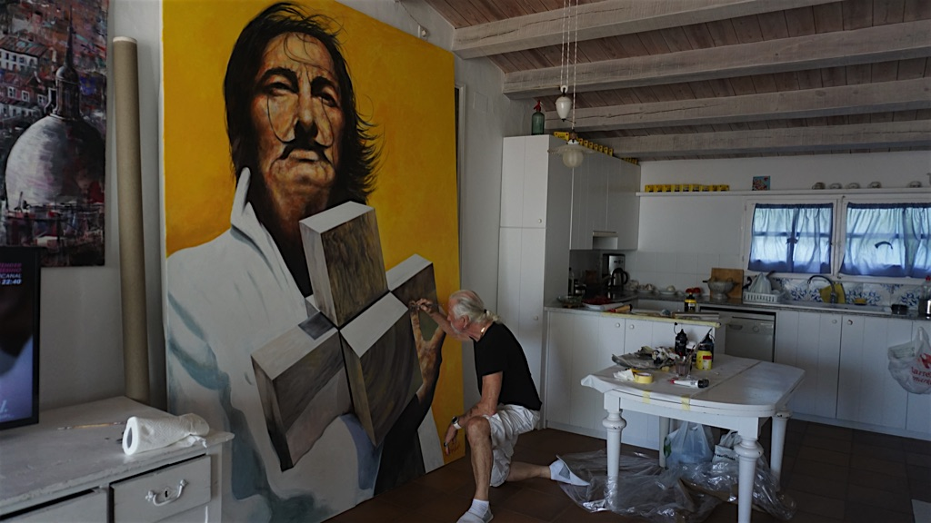 Painting Salvador Dali Portrait